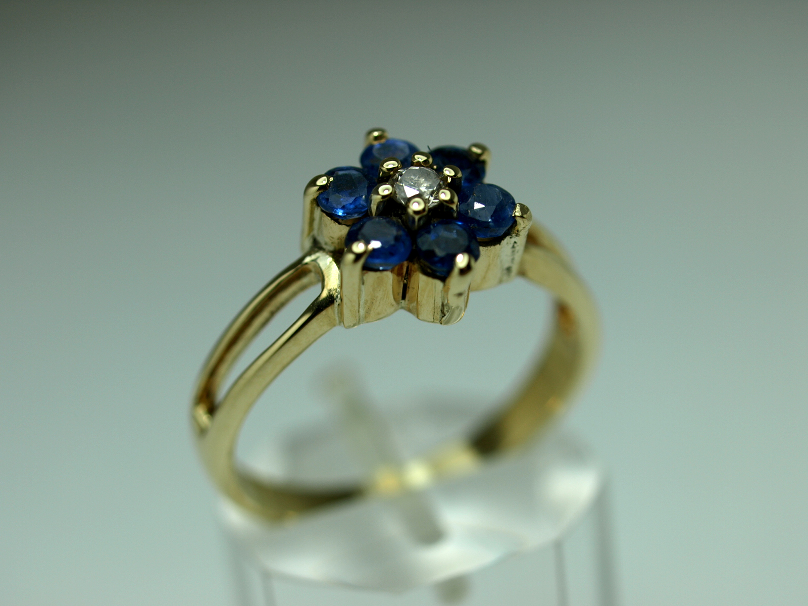 ANELL OR GROC I BRILLANT 14K